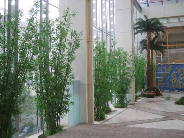 Shopping Mall Decorated with Artificial Bamboo Trees in Canada