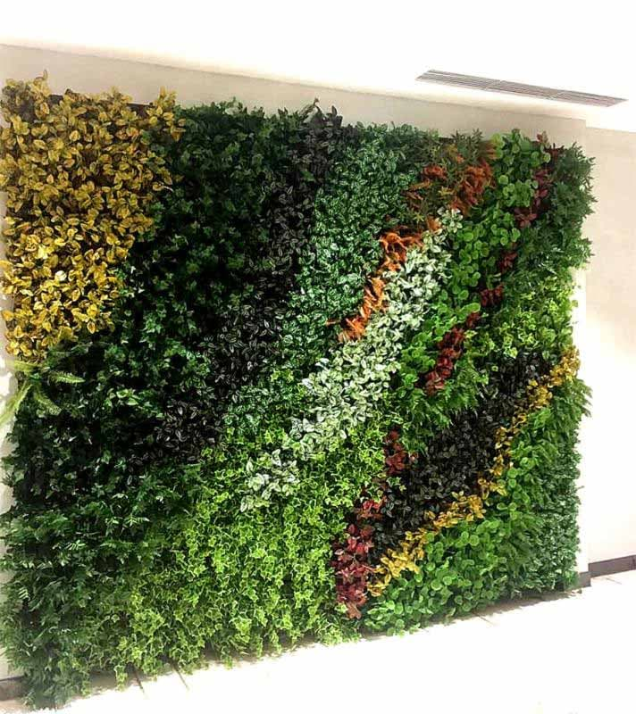 Vertical plant wall for hotel