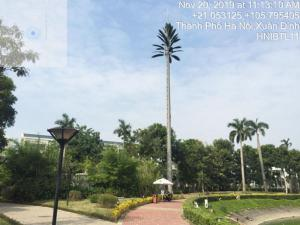 Vietnam Telecom Tower with Artifical Palm Leaves Project